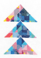 Trangulation Printed Cross Stitch Kit By DMC
