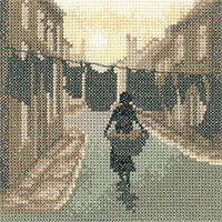 Wash Day Cross Stitch Kit By Heritage