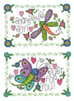 Garden Cuties Dragonfly & Butterfly Cross Stitch Chart by Joan Elliott