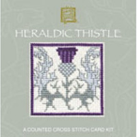 Heraldic Thistle Miniature Card Cross Stitch Kit By Textile Heritage