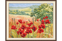 Poppy fields Cross stitch Kit By oven