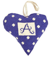 Purple Alphabet Heart Lavender Heart Tapestry Kit