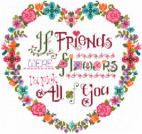 Flower Friends Cross Stitch Chart