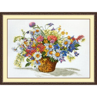 Flowers cross stitch Kit by Oven
