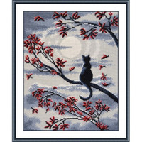 Moon Cat Cross Stitch Kit by Oven