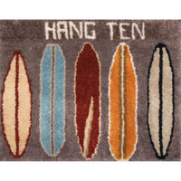 Hang Ten Surf Boards Graph n Latch Rug Kit by MCG Textiles