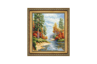 Autumn River Cross Stitch Kit by Golden Fleece