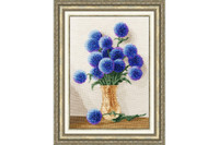 Azure Bouquet Cross Stitch Kit by Golden Fleece
