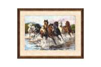 Dance with Water Splashes Cross Stitch Kit by Golden Fleece