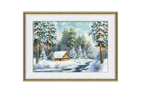 Forester's lodge Cross Stitch Kit by Golden Fleece