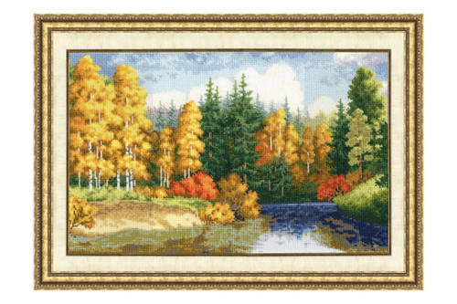 Golden Autumn Cross Stitch Kit by Golden Fleece