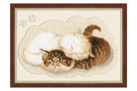Kittens Cross Stitch Kit by Golden Fleece