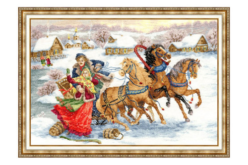 Maslenitsa Cross Stitch Kit by Golden Fleece