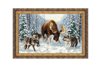 Meeting in the Forest Cross Stitch Kit by Golden Fleece
