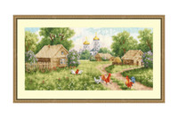 Morning in the Village Cross Stitch Kit by Golden Fleece