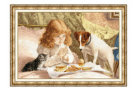 Morning Prayer Cross Stitch Kit by Golden Fleece