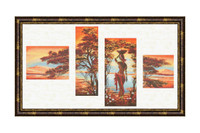 Orange River Cross Stitch Kit by Golden Fleece