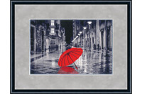 Red umbrella Cross Stitch Kit by Golden Fleece