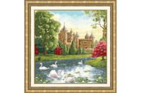 Swan Lake Cross Stitch Kit by Golden Fleece