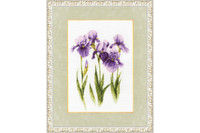 Water-color Irises Cross Stitch Kit by Golden Fleece