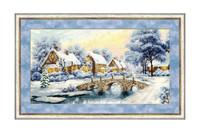 Winter Sunset Cross Stitch Kit by Golden Fleece