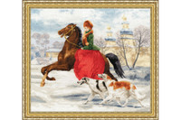 Winter Walk Cross Stitch Kit by Golden Fleece