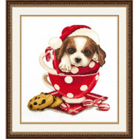 New Year Saint Bernard Cross stitch Kit By Oven