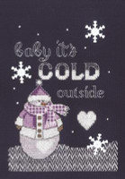 Cold Outside Cross Stitch Kit By Janlynn