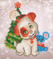 Christmas Pup and Mouse Craft Kit By Diamond Dotz
