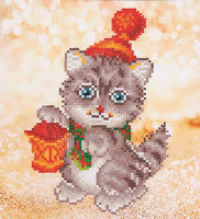 Christmas Kitten Glow Craft Kit By Diamond Dotz