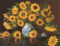 Sunflowers in China Vase Craft Kit By Diamond Dotz