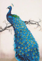 Blue Peacock Craft Kit By Diamond Dotz