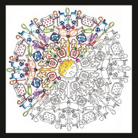 Zenbroidery - Kitchen Mandala Embroidery Kit By Design Works