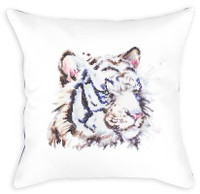 White Tiger Pillow Cross Stitch Kit By Luca S