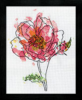 Pink Floral Cross Stitch Kit By Design Works
