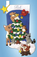 Woodland Friends  Applique Felt Stocking Kit By Design Works
