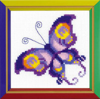 Amethyst Butterfly Cross Stitch Kit By Riolis