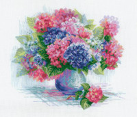 Hydrangea Cross Stitch Kit By Riolis