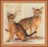 Abyssinian Cats Cross Stitch Kit By Riolis