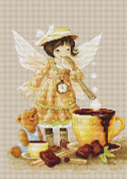 Chocolate Fairy Cross Stitch Kit By Luca S