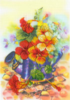 Garden Watering Can Cross Stitch Kit By Riolis