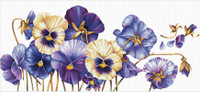 Purple Pansies No Count Cross Stitch Kit By Riolis