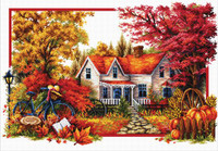Autumn Comes No Count Cross Stitch Kit By Riolis