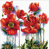 lovely Poppies No Count Cross Stitch Kit By Riolis