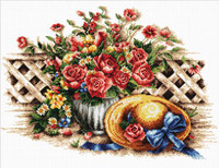 Roses and sunhats No Count Cross Stitch Kit By Riolis