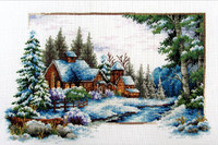 Winter Snow No Count Cross Stitch Kit By Riolis
