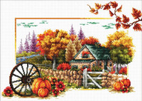 Autumn Farm No Count Cross Stitch Kit By Riolis