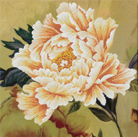 Blooming Peony ll No Count Cross Stitch Kit By Riolis