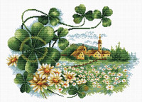 Scenery Clover No Count Cross Stitch Kit By Riolis