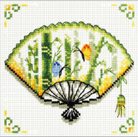 Bamboo Fan No Count Cross Stitch Kit By Riolis